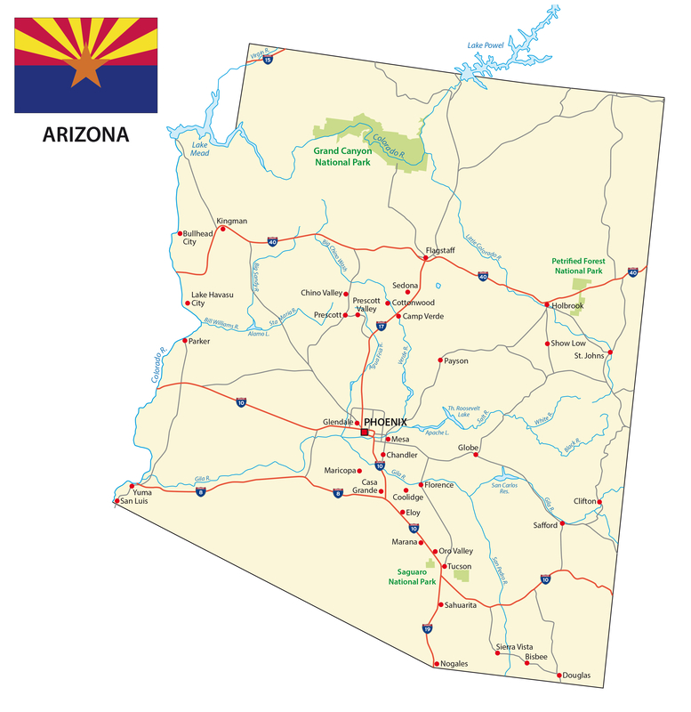 Chandler AZ City Map Dumpster Rentals